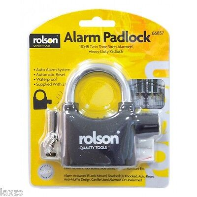 Rolson Heavy Duty Alarm Padlock for Bike Cycle Bicycle Cycling Safety Security