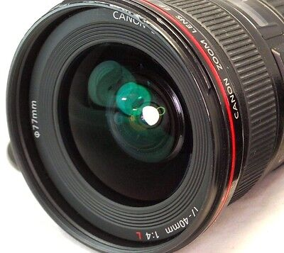Canon EF 17-40mm F4 L USM Ultrasonic Lens with hood caps -  excellent condition