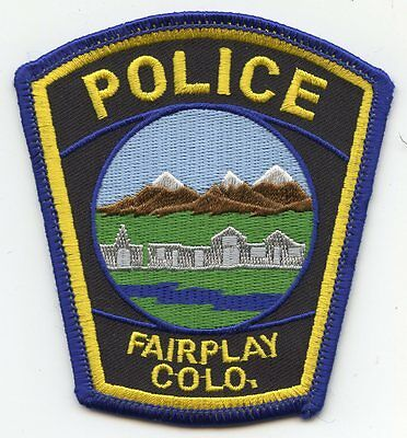 FAIRPLAY COLORADO CO colorful POLICE PATCH
