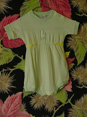 40s Child's pale green acetate jersey Romper 22 breast