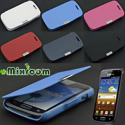 COVER CUSTODIA FLIP CASE A LIBRO IN ECOPELLE PER SAMSUNG GALAXY W GT i8150