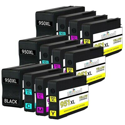 12 PACK 950XL 951 XL Ink Cartridges for HP Officejet Pro 8600 8610 8615 8620