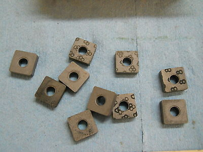 10 New Carboloy Carbide Inserts  Snma 322  Grade 883 1368