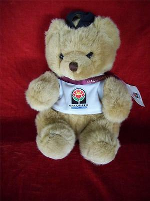 Macquarie Center Bear Signed By Figure Skater  Jo Carter  New With Tag 22Cm Tall