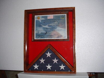 3X5 FLAG & Certificate Document Display Case - Solid Cedar- Iraq ...
