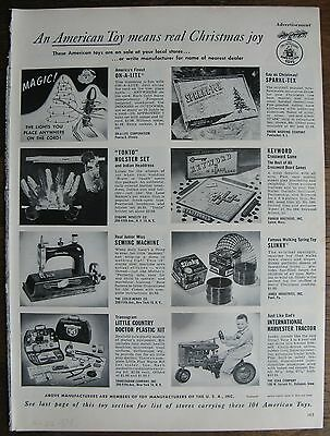 1954 American Toys Magazine Catalog Pages - Robot, Ride-Ons, Games, Dolls, etc.