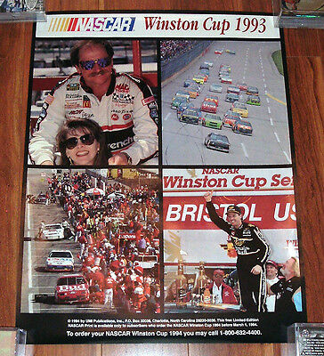 UMI Publications Nascar Winston Cup 1993 Poster - Dale Earnhardt Wallace - NMNT