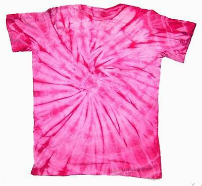 PETITE PINK SPIDER TYE DYED TEE SHIRT unisex SIZE XLG hippie tie dye NEW PET06