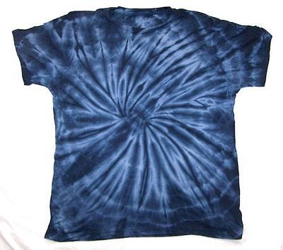 PETITE NAVY BLUE SPIDER TYE DYED TEE SHIRT unisex SIZE MED hippie tie dye PET05