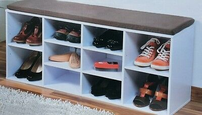 schuhregal sitzbank schuhe schrank schuhschrank regal bank schuhbank cortina. Black Bedroom Furniture Sets. Home Design Ideas