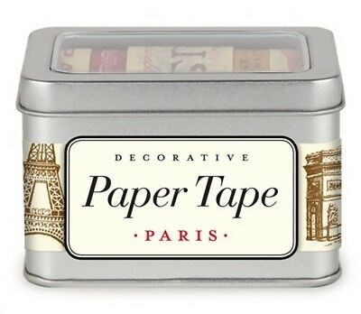 Vintage Paris Paper Washi Tape - 5 Rolls from Cavallini Paper