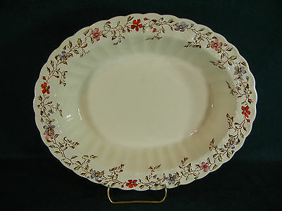 """Copeland Spode Wicker Dale Large 11 1/2"""" Oval Serving Bowl"""