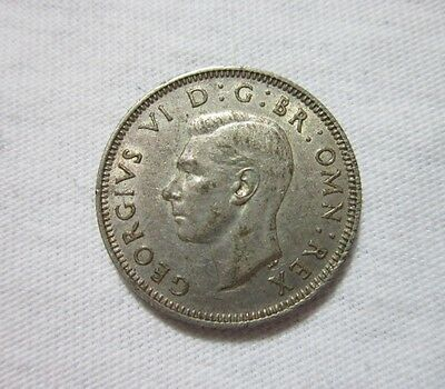 Great Britain. 1 Silver Shilling, 1938. King George Vi.