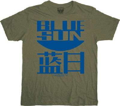 Firefly / Serenity Blue Sun Logo Military Green T-Shirt, NEW UNWORN