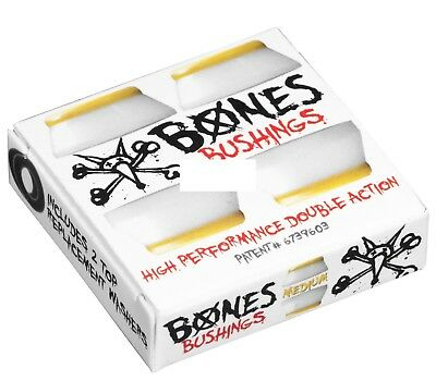 Bones Hardcore Skateboard White Bushings Medium 91a, Two Sets