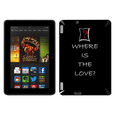 Disagu Skin für Amazon Kindle Fire HDX 7 WHERE IS THE LOV... Aufkleber Sticker