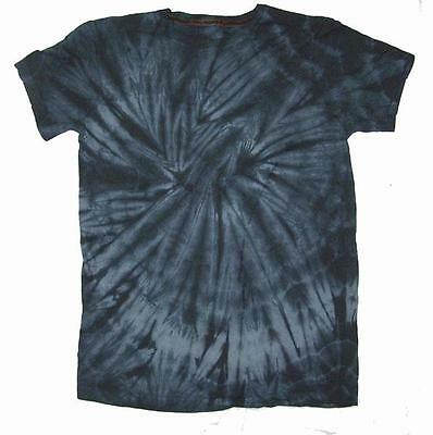 PETITE BLACK SPIDER TYE DYED TEE SHIRT unisex SMALL hippie tie dye PET10 new