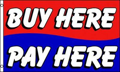 BRAND NEW BUY HERE PAY HERE FLAG 3x5 banner flags advertizing auto car truck new