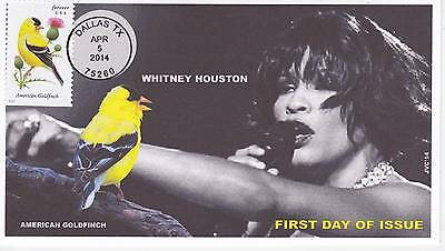 Jvc Cachets - 2014 Songbirds First Day Covers Fdc Topical Music Whitney Houston