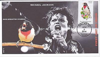 Jvc Cachets - 2014 Songbirds First Day Covers Fdc Topical Michael Jackson