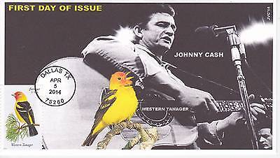 Jvc Cachets - 2014 Songbirds First Day Covers Fdc Topical Music Johnny Cash