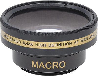 37mm Wide Angle Lens For Sony, Panasonic, Canon, JVC, And Other Camcorders