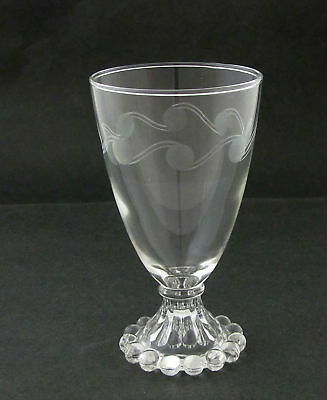 4 ANCHOR HOCKING BOOPIE GOBLETS, 9 oz. w Etched Dots