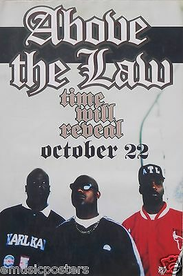 """ABOVE THE LAW """"TIME WILL REVEAL"""" 1996 U.S. PROMO POSTER - A.T.L., Hip Hop Music"""