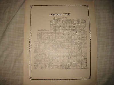 Antique 1891 Lincoln Township Morrow County Ohio Map A Land Owners Nr