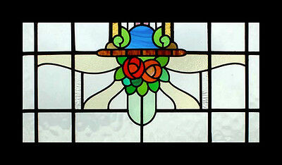 Art Nouveau Mackintosh Roses English Antique Stained Glass Window • CAD $2,054.56