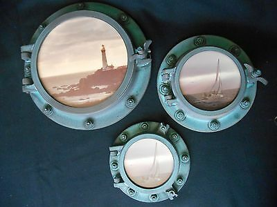 VINTAGE but NEW 1985 Set of 3 Reproduction Port Holes w/Seascapes Bo Svensson