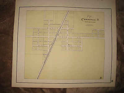Antique 1898 Cridersville Auglaize County Ohio Map Rare Detailed Nr
