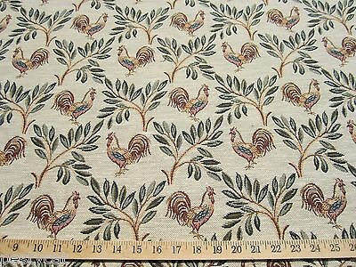 Barnyard Rooster tapestry upholstery fabric per yard ft938