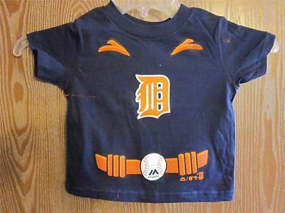 NEW-FLAWED Detroit Tigers Toddler 2T Home Run Hero Shirt 36MP