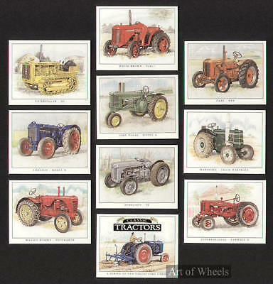 Tractors Massey-Harris Fordson Ferguson Case Trade Card