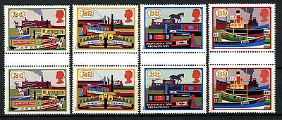 GB QEII 1993 SG#1775-8 Inland Waterways Gutter Pairs MNH Set Never Folded#A49853