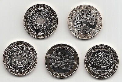 Rare Two Pound Coin £2 2009 to 2019 Choose your Year - Brilliant Uncirculated