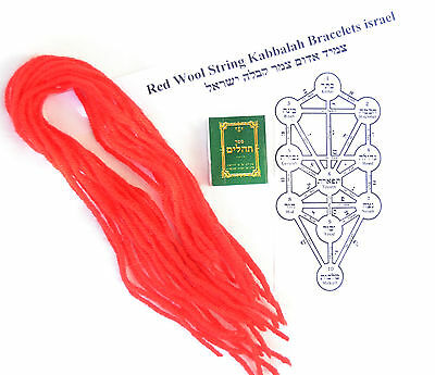 Lot 20+5 Red Wool String Kabbalah Bracelets against Evil Eye israel Blessed S10""