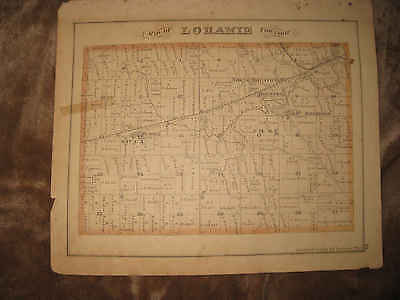 Antique Loramie Township Mount Jefferson Houston Sidney Shelby County Ohio Map N