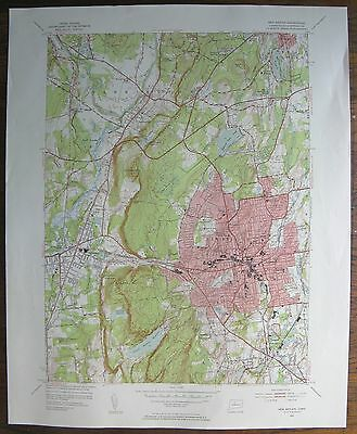 1953 Map NEW BRITAIN CONN. Geological Survey 17x21""