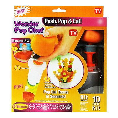 Canape Cutter Maker Fruit Vegetable Shaper Wonder Pop Chef Party Decorator
