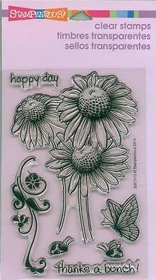 STAMPENDOUS Clear Stamps DAISY THANKS Thanks a Bunch Happy Day Flowers Beautiful