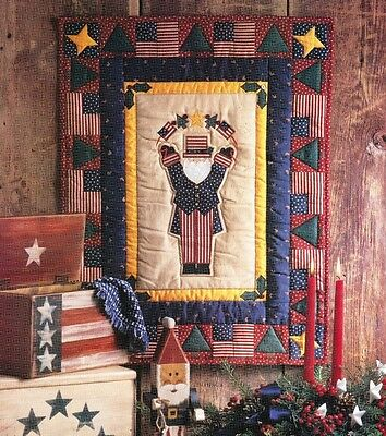 Pattern For Uncle Sam Wall Quilt Applique Quilting