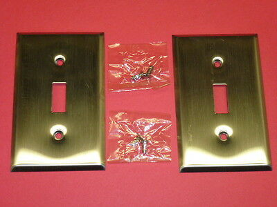 (2) Nos! Bell Deluxe Single Gang Stainless Steel Wall Switch Plates • CAD $6.90