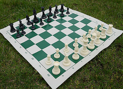 Tournament Chess Set Plastic Pieces Board 20.5 X20.5  inch +nice carrying case