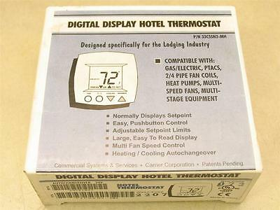 Carrier 33CSSN2-MH Digital Display Hotel Thermostat with Auto Changeover