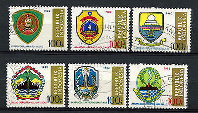 Indonesia 1986 Arms x 6 Cto Used #A66313