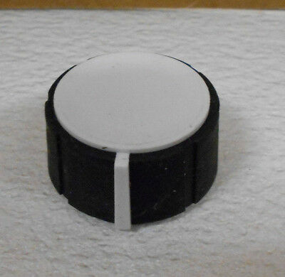 X10 Rubber / Plastic Knurled Grip Rotary Knobs Black & White With Allen Screw