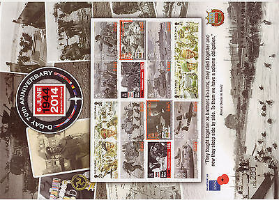 ISLE OF MAN 2014 D-DAY 70th ANNIVERSARY SHEET UNMOUNTED MINT