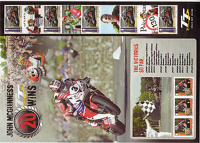 Isle Of Man 2014 John Mcguinness Commemorative Sheet Unmounted Mint